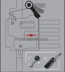 ATRA DIERRE LOCK NF-09 двух сиcтемный замок с возможностью перекодировки